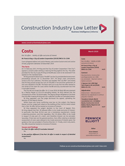Cover of Construction Industry Law Letter