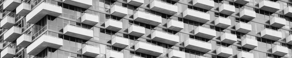 Grey balconies