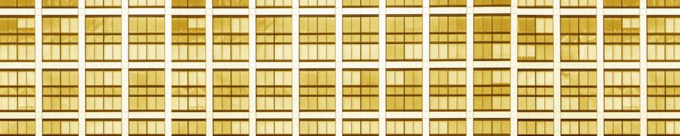 Yellow high rise apartment block
